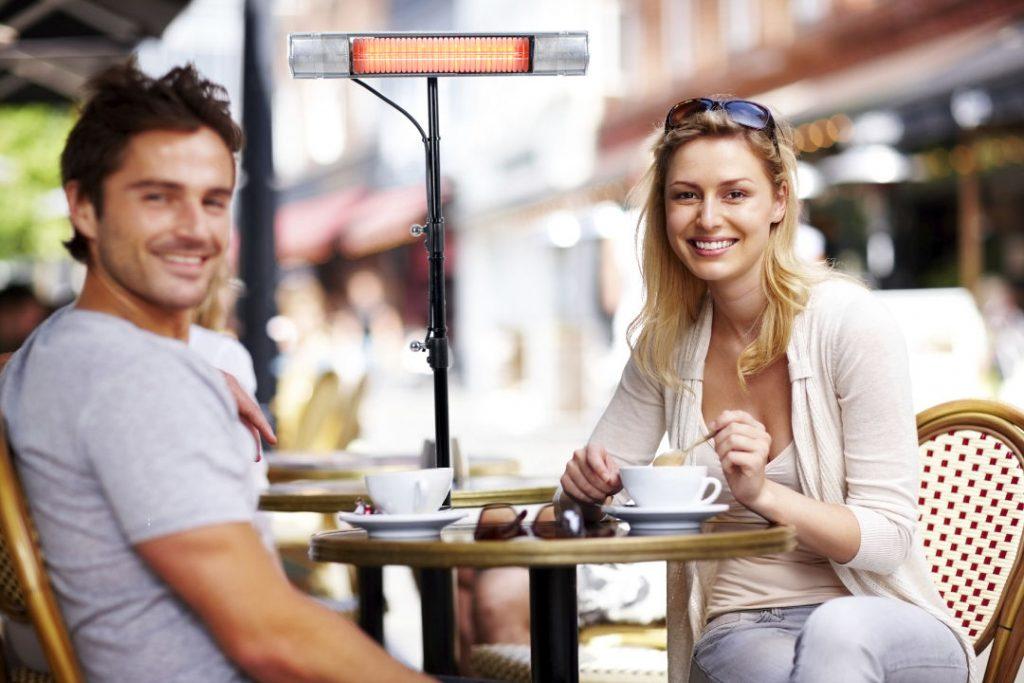 OHLE Infrarotstrahler in einem Cafe