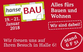 """Messe """"hanseBAU Bremen"""" Wir sind dabei!"""